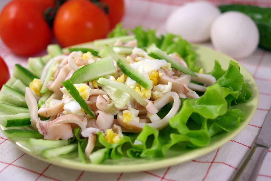 Салат из кольмаров с